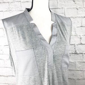 Calvin Klein Light Gray Sleeveless V Neck Top
